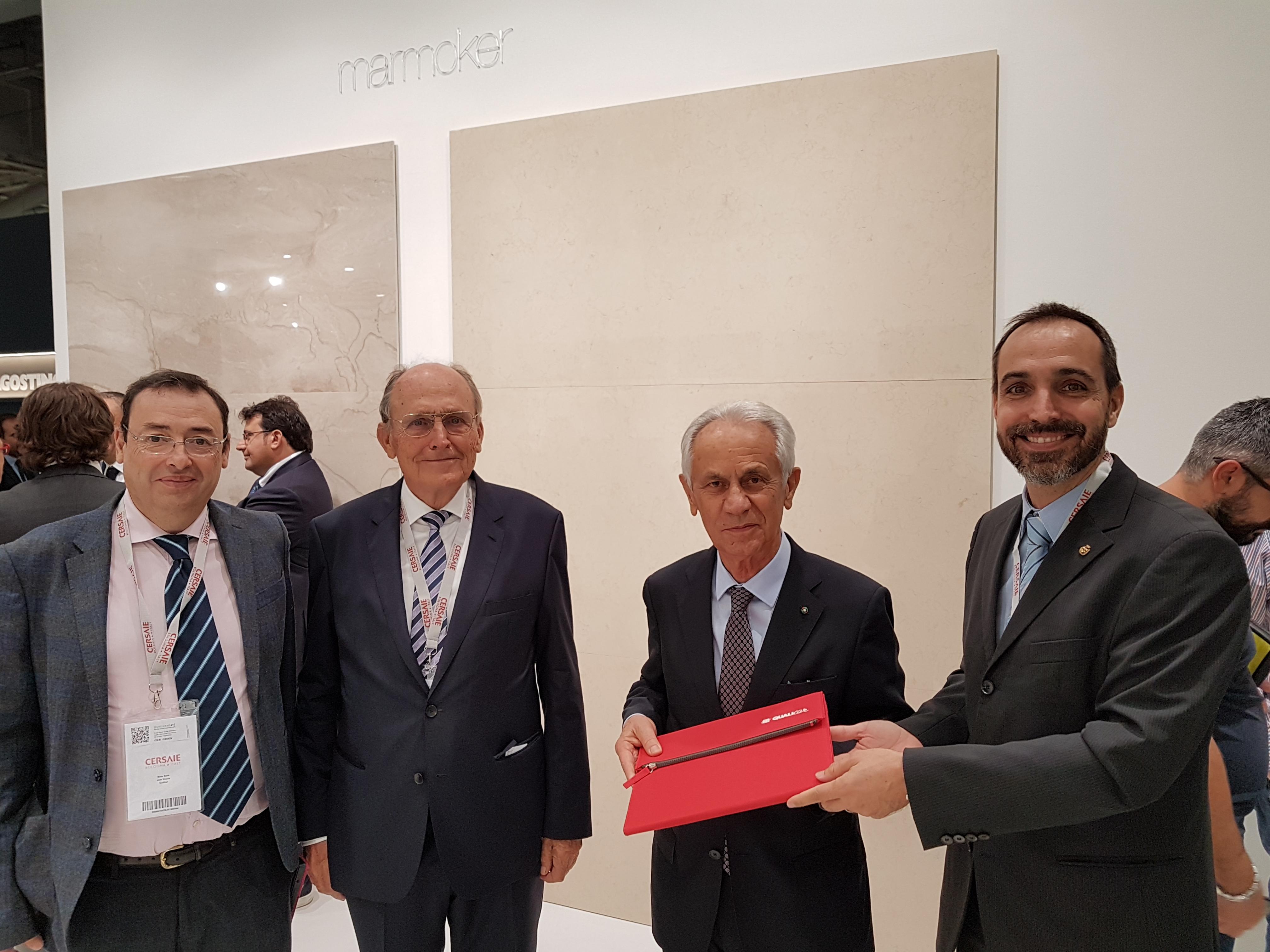 Franco Manfredini, Presidente de Casalgrande Padana, confirma su participación en Qualicer 18